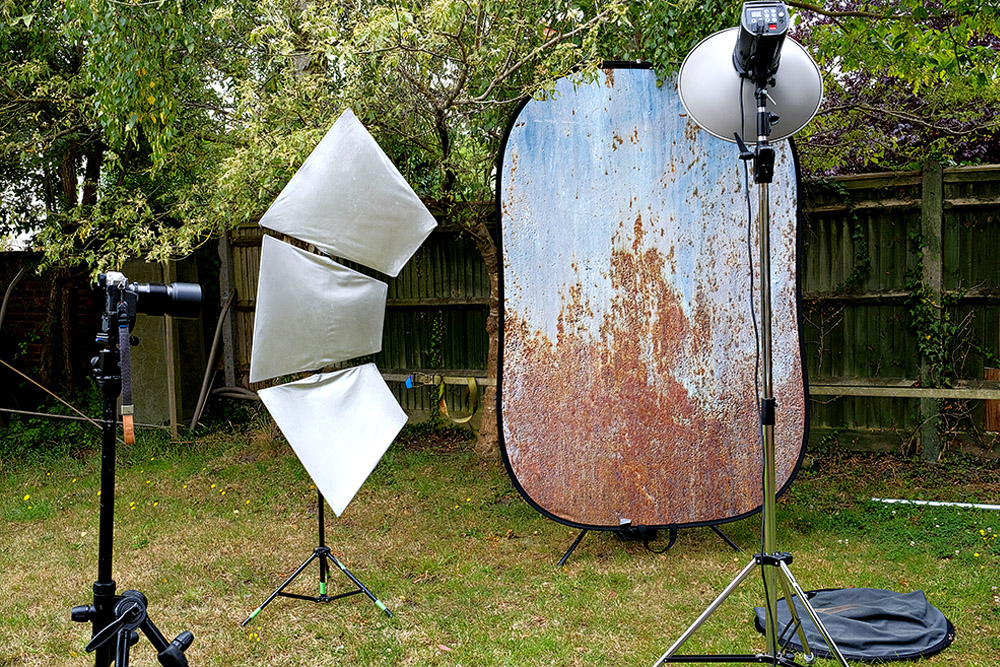 outdoor photography setup